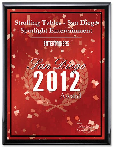 strolling tables award